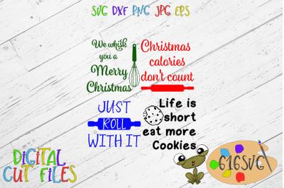 Christmas potholder designs SVG