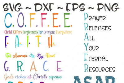 Christian SVG, Coffee svg, Faith svg, Grace svg, Prayer svg