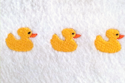 Row of Rubber Ducks | Embroidery