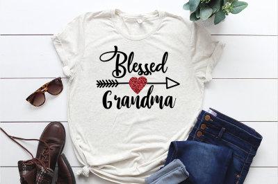 SVG Cut File, Blessed Grandma, Die Cut Printable, Silhouette Svg, Cric