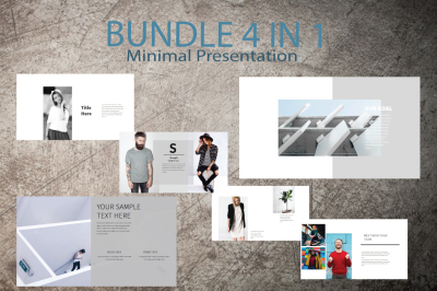 4in1 Bundle Minimal Keynote Template