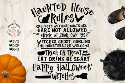 Haunted House -Halloween Party Rules