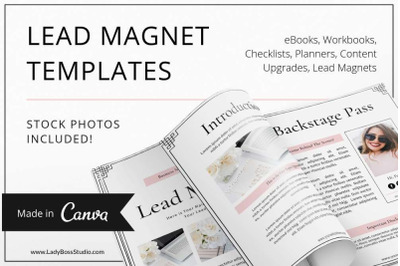 Canva Blush Opt-in Freebie Templates