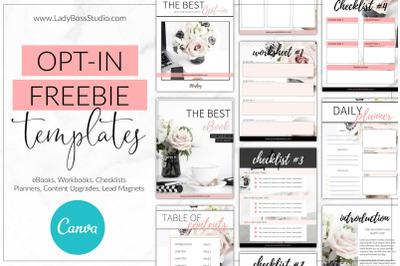 Canva Blush Opt-in Freebie Templates