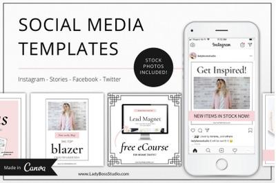 Canva Social Media & Pinterest Blush Kit