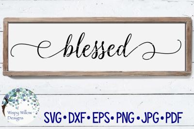 Blessed Sign SVG DXF PNG JPG EPS PDF