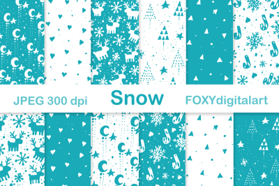 Christmas Holiday Scrapbook Digital Paper