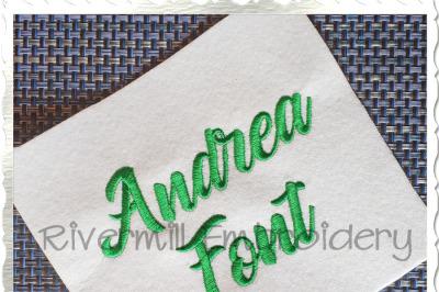 Andrea Machine Embroidery Alphabet