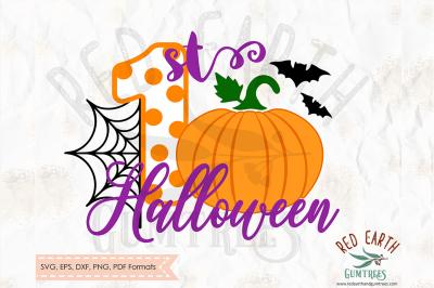 1st Halloween shirt design SVG, PNG, EPS, DXF, PDF formats