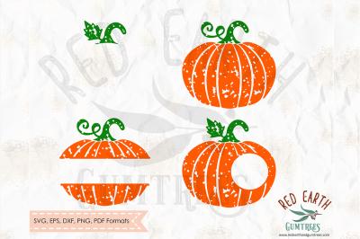 Distressed pumpkin monogram SVG, PNG, EPS, DXF, PDF formats