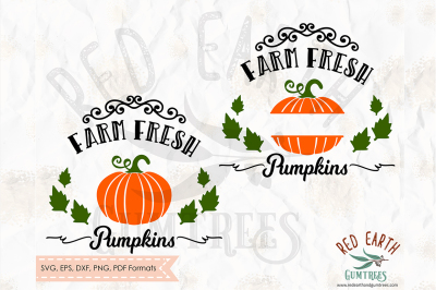 Farm fresh pumpkin decal, Halloween SVG, PNG, EPS, DXF, PDF formats