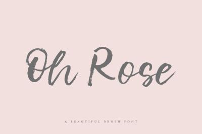 Oh Rose Brush Font