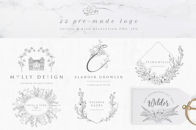 Flowered Monograms & Logo Collection