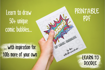 AWESOME Comic Bubbles - Printable Workbook