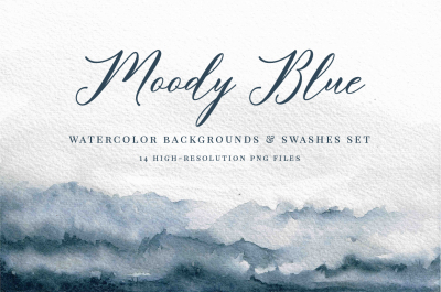 Watercolor Backgrounds and Swashes