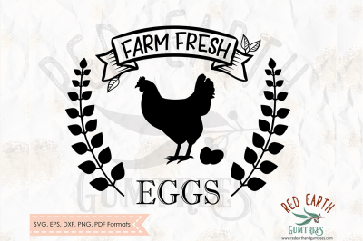 Farm fresh eggs, farm decal SVG, PNG, EPS, DXF, PDF formats