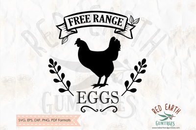 Free range eggs, farm decal SVG, PNG, EPS, DXF, PDF formats
