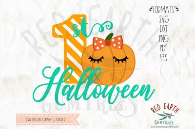 1st Halloween kids shirt design SVG, PNG, EPS, DXF, PDF formats