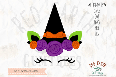 Unicorn witch halloween SVG, PNG, EPS, DXF, PDF formats