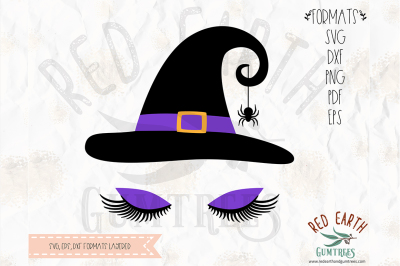 Halloween witch with lashes SVG, PNG, EPS, DXF, PDF formats