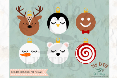 Christmas character balls SVG, PNG, EPS, DXF, PDF formats
