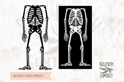 Halloween skeleton template SVG, PNG, EPS, DXF, PDF formats