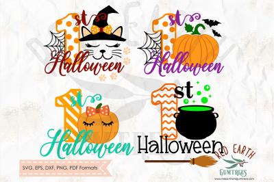 1st Halloween bundle SVG, PNG, EPS, DXF, PDF formats