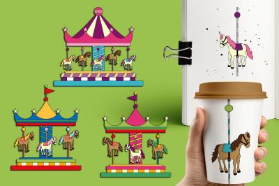 Carousel Merry Go Round Clipart