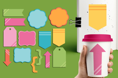 Pastel Simple Tag Labels Clipart Graphics