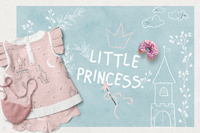 Little Princess. Illustrations & Patterns