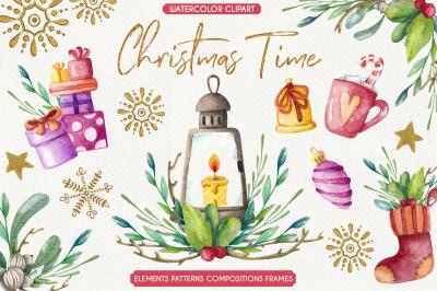 """""""Christmas Time"""" - Watercolor set"""