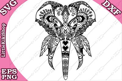 Zentangle Elephant Svg,MANDALA ELEPHANT SVG,Zentangle animal Svg