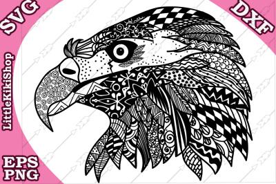 Zentangle Eagle Svg, MANDALA EAGLE SVG, Cricut Svg file