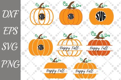 Pumpkin monogram Svg, Pumpkin Bundle Svg,Monogram Svg