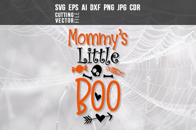 Mommy's Little Boo - svg, eps, ai, cdr, dxf, png, jpg