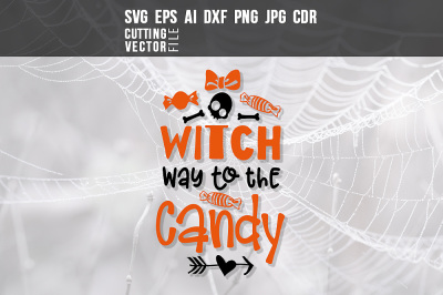 Witch way to the candy - svg, eps, ai, cdr, dxf, png, jpg