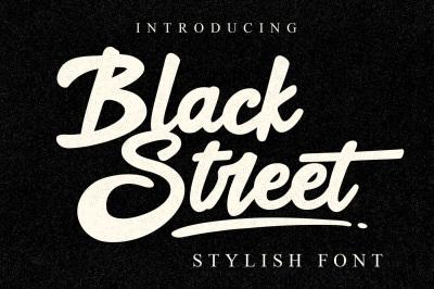 Black Street - 2 Fonts and Bonus