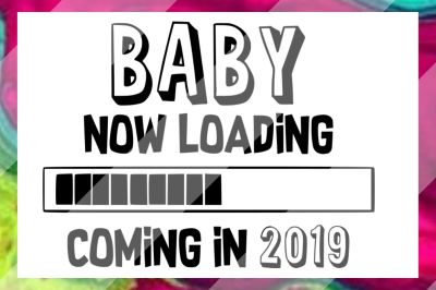 2019 Baby Announcement SVG PNG DXF