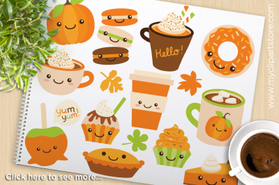 Pumpkin Spice / Fall Treats Vector Clipart