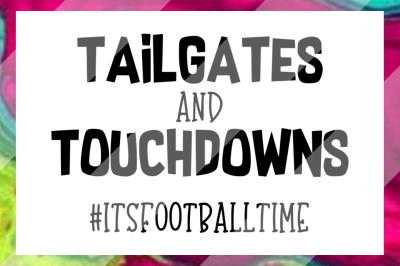 Tailgates and Touchdowns Football SVG PNG & DXF design files