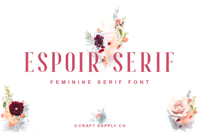 Espoir Serif Font Family