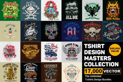 17000 Tshirt Design Master Collection Mega Bundle