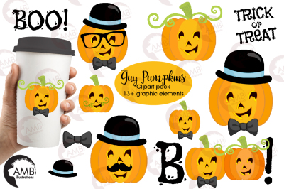 Guy Pumpkins clipart AMB-2466