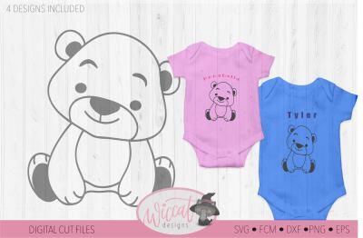 Baby animal bundle, Coloring svg, dog svg, cat svg, elephant svg, bear