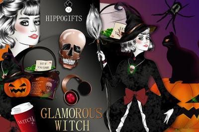 Halloween clipart, Witch clipart, Pumpkin clipart