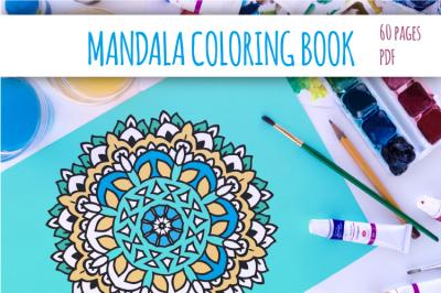 Mandala coloring PDF book. Boho coloring. Digital mandala