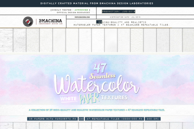 Seamless Watercolor Paper Textures