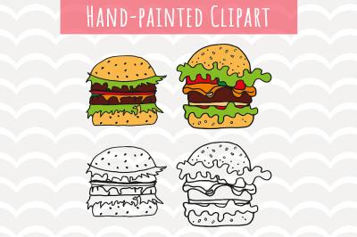 Hamburger Clip Art,Fast Food Svg, Burger files