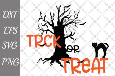 Trick or Treat Svg,HALLOWEEN SVG, Halloween Cat Svg,Halloween Sign