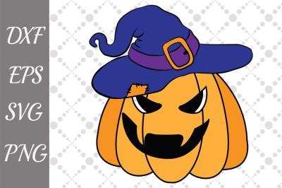 Pumpkin Svg, JACK O LANTERN SVG ,Witch Hat Svg,Halloween Sign